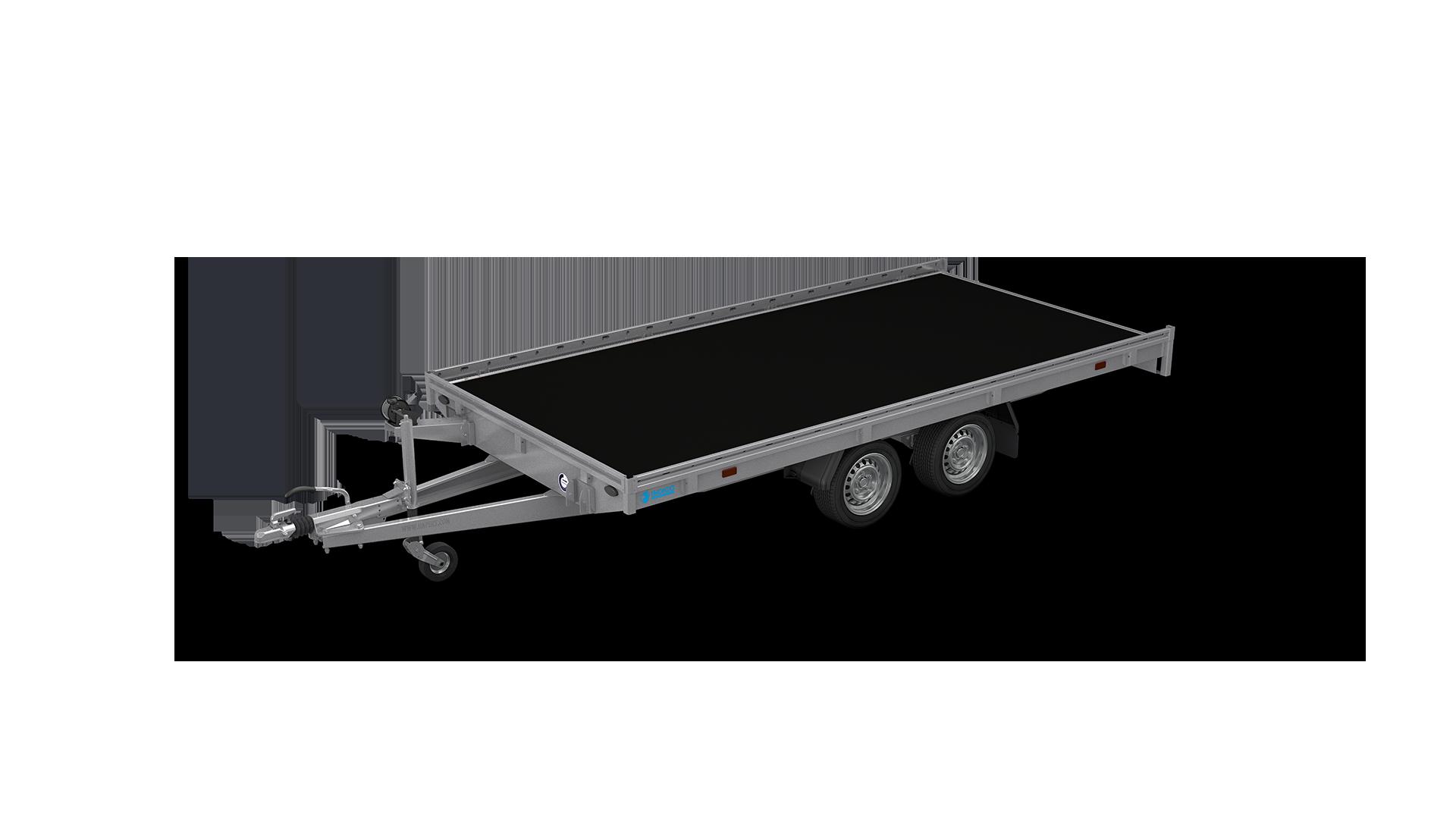 HAPERT remorque INDIGO HF-2 porte-voiture et engins à basculement hydraulique