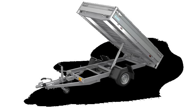 Cobalt HB - Achterwaartse kipper aanhangwagen