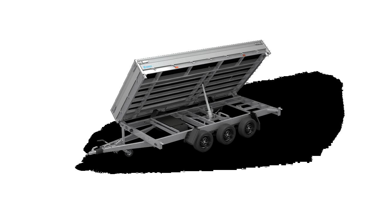 HAPERT trailer COBALT HM-3 three-sided tipper