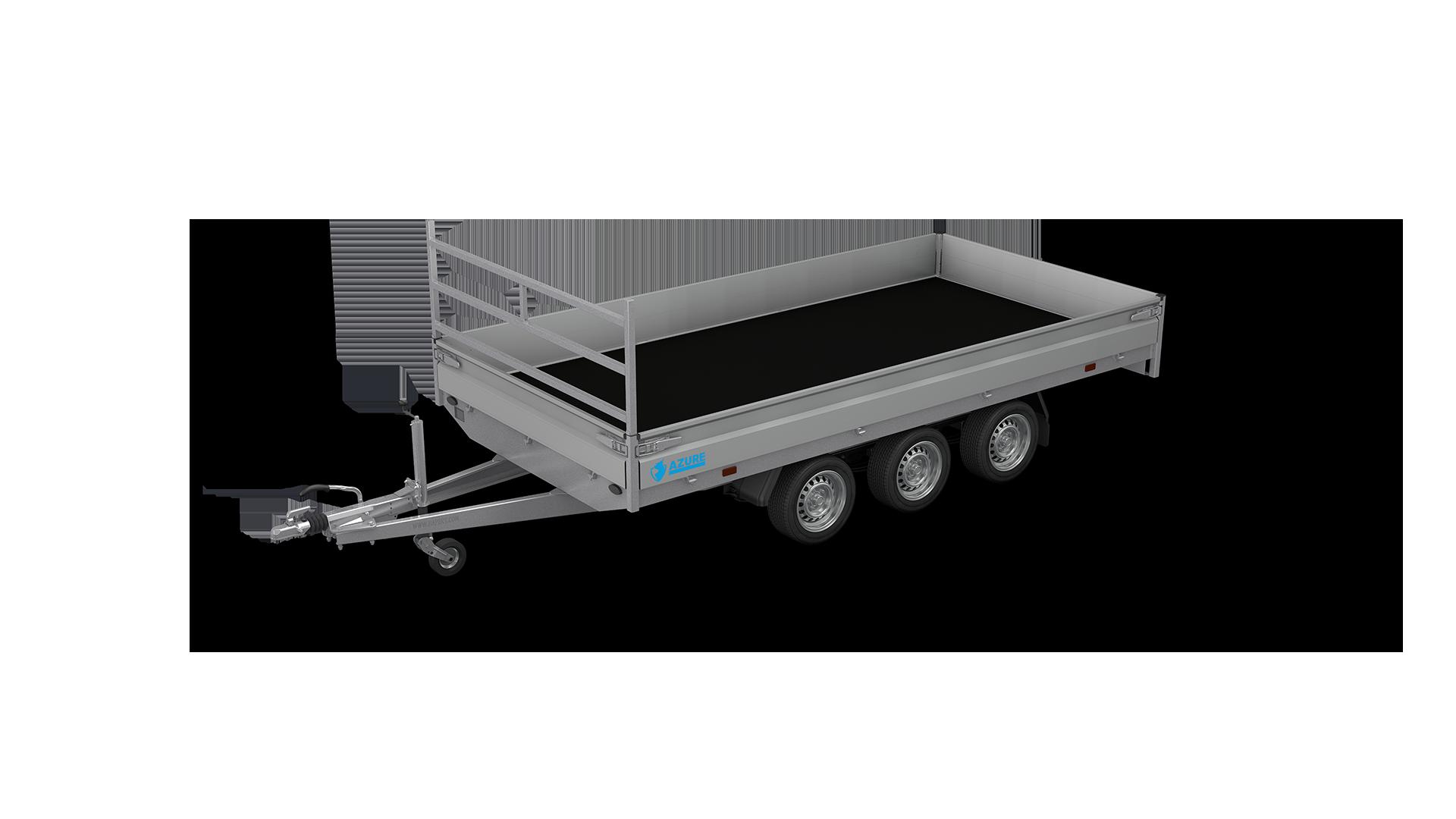 HAPERT trailer AZURE H-3 flatbed