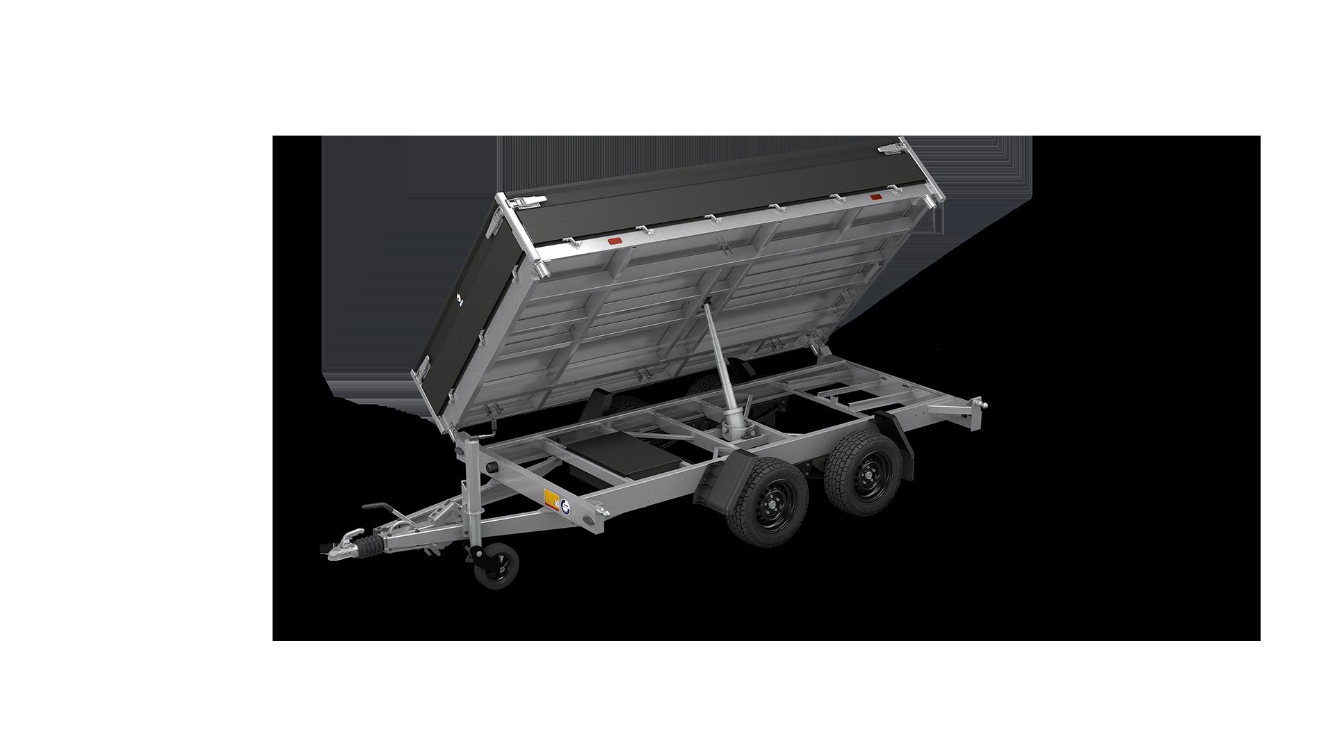 HAPERT trailer COBALT HM-2+ reinforced three-sided tipper