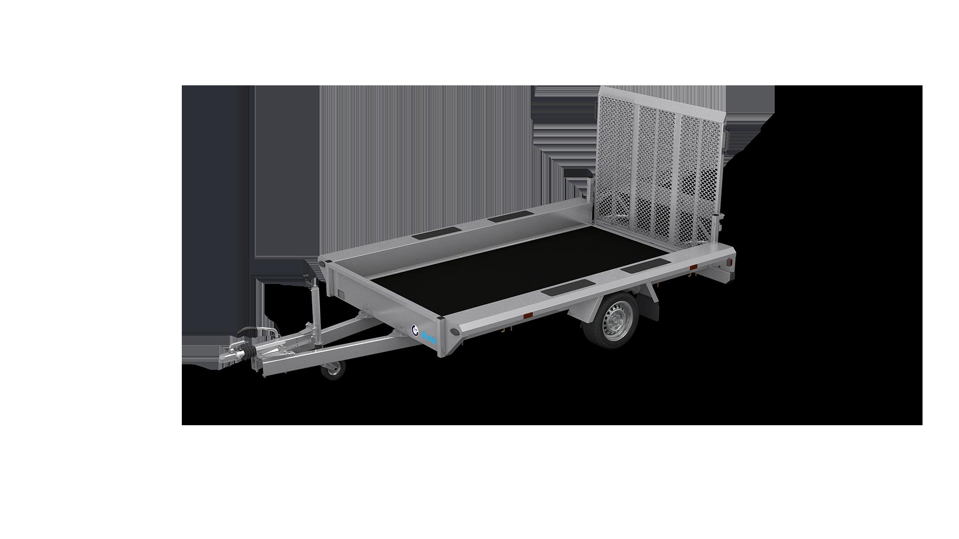 HAPERT transport trailer INDIGO LF-1 non-tilting machine transporter