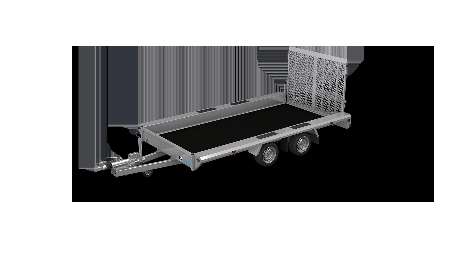 HAPERT transport trailer INDIGO LF-2 non-tilting machine transporter