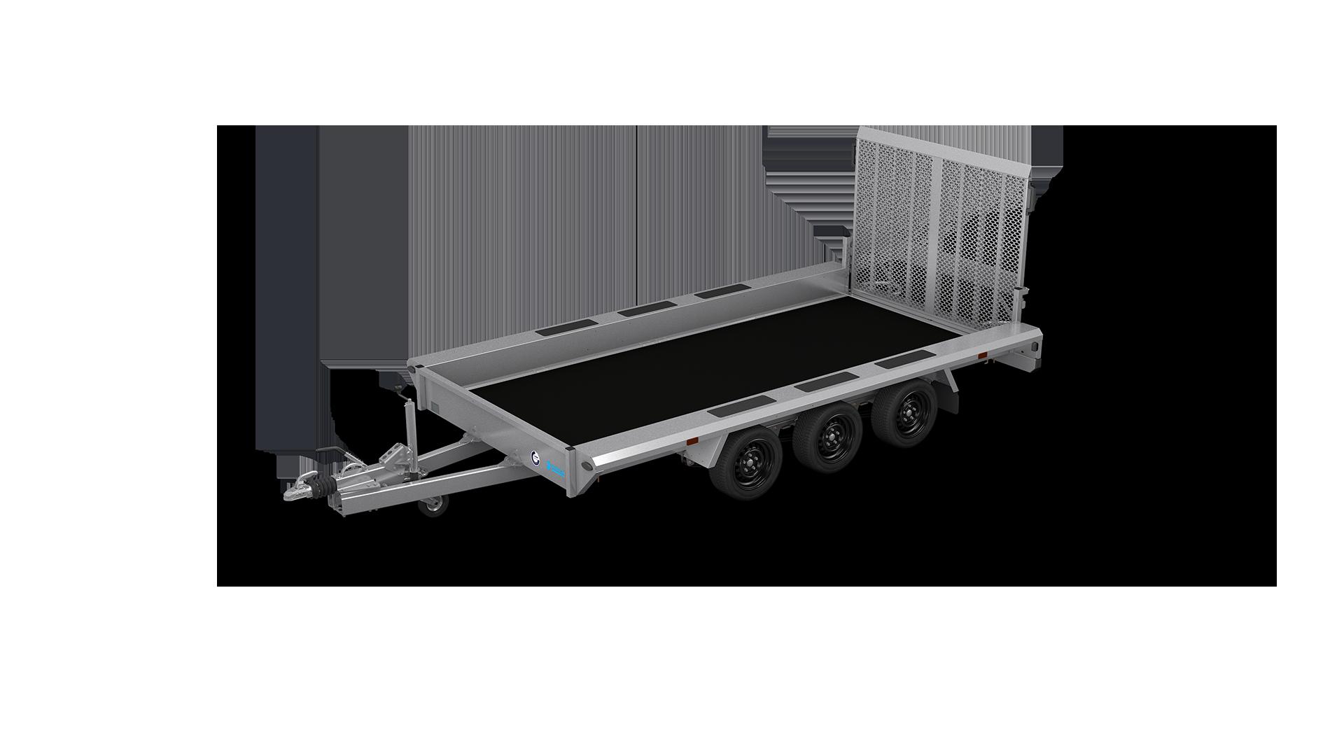 HAPERT transport trailer INDIGO LF-3 non-tilting machine transporter