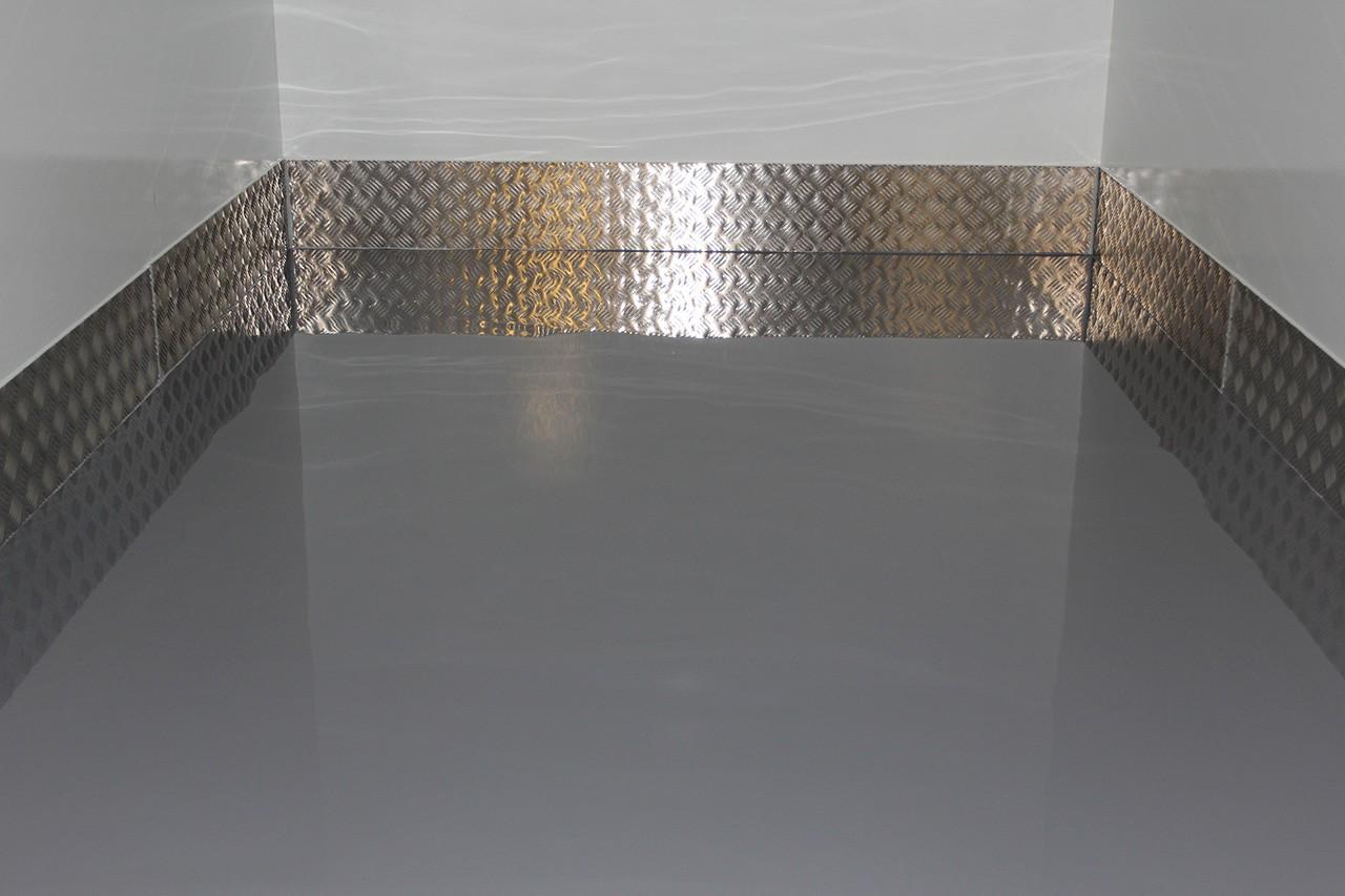 Speciale gietvloer coating op de vloer