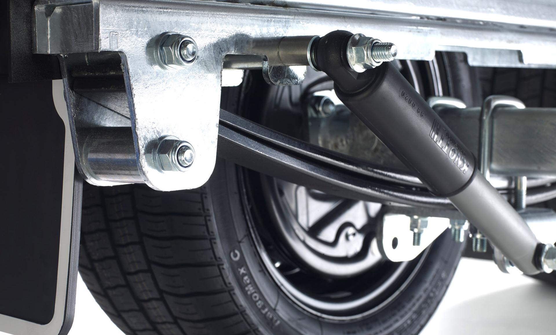 Aanhangwagen met HAPERT paraboolvering