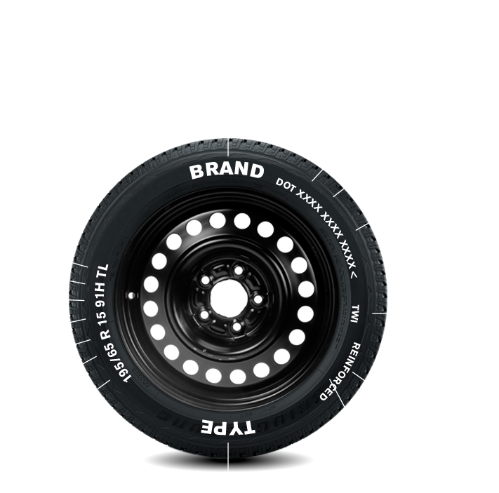 WHICH INFORMATION WILL YOU FIND ON A TYRE?